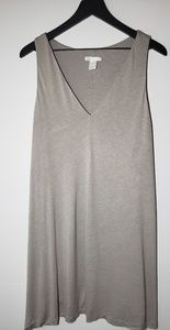 H&M Beige V-Neck Tank Mini Dress (MEDIUM)